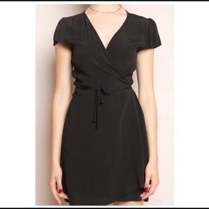 brandy melville black robbie wrap dress!